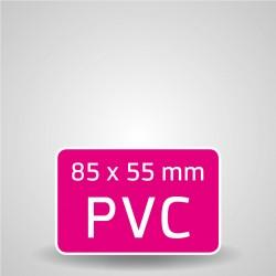 CARTES DE VISITE PVC 760 µ DUR BLANC coins droit