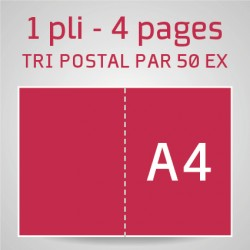 Dépliant A4 ouvert - A5Fermé
